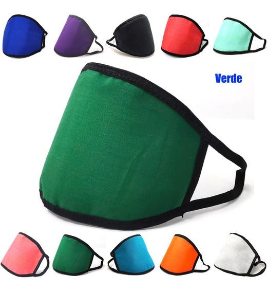Cubrebocas Triple 3 Capas Mascarilla Reusable Lavable Colore