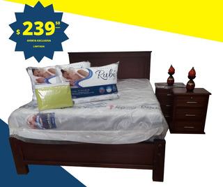 Juego Dormitorio Cama 2 Plazas Por 264 Entrega Gratuita