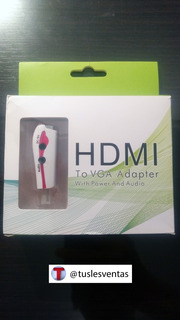Hdmi A Vga Activo Audio 3.5mm Adaptador Conversor