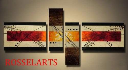 Cuadros Tripticos Decorativos Abstractos