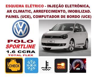 Esquema Elétrico Injeção Ar Arref. Polo Sportline 1.6 Ccra