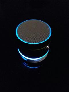 Parlante Bluetooth Portatil Celular Mini Luces Led Usb Fm