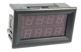 Voltímetro Amperímetro De Precisão Vermelho E Azul 4 Dígitos