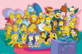 Poster Seriado Desenho Família Simpsons Importado Raro