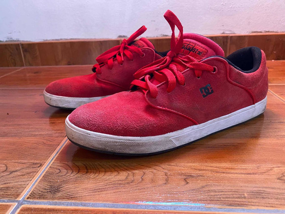 Zaptillas Dc Skate Como Nuevas Rojas