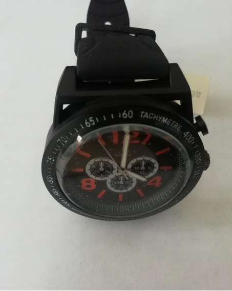 Aeropostale Reloj Negro C/números Naranja 100% Orig. Bc07/19