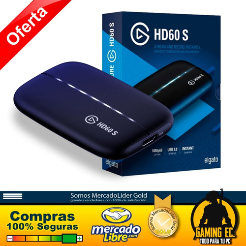 Elgato Hd60 S Capturadora Video Stream Ps4 Xbox One Switch