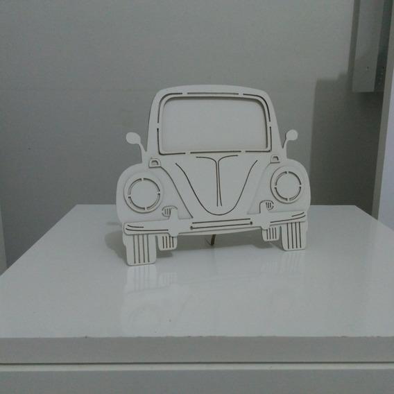 Kit Com 3 Porta Retrato Carro Tipo Fusca Ou Combi Branco