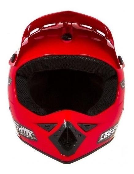 Capacete para moto cross Pro Tork Liberty MX Pro vermelho tamanho 60