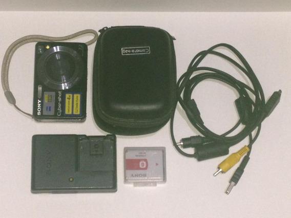 Maquina Camera Digital - Sony Dsc W110 - 7.2mp -bolsa + Cartão 2g + Carregador + Bateria + Documentação Original