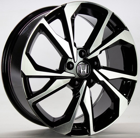 4 Rodas Honda Civic Si / Aro 18x7 / Preta Diamantada (5x114)