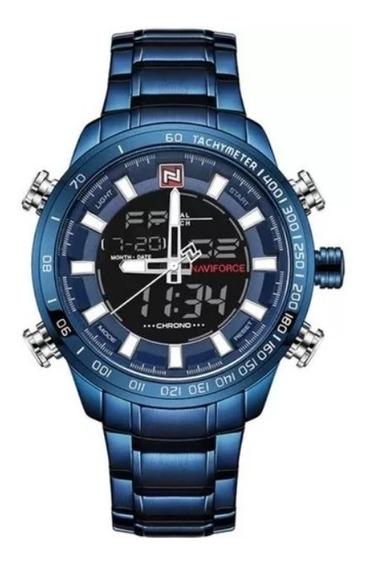 Relógio Masculino Naviforce Azul 9093 Original