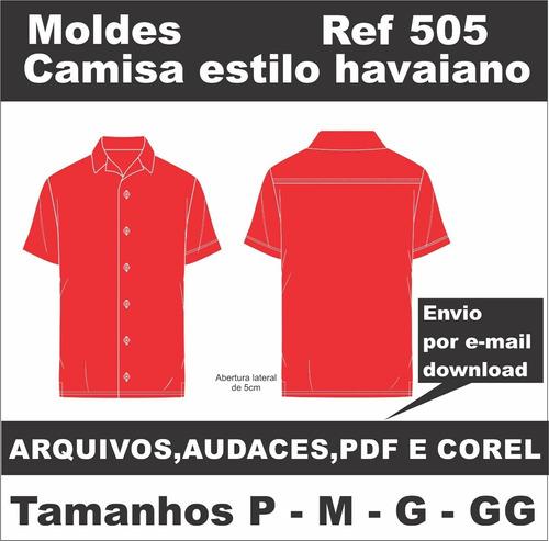 Moldes De Camisa Masculina Estilo Havaiano