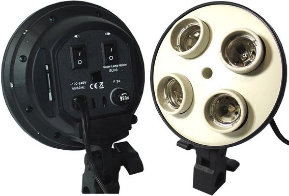 Soquete Quadruplo P/ 4 X Lampadas Estudio Fotografico Video