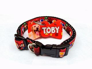 Plaquita + Collar De Identificación Mascotas (con Foto)