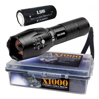 Super Lanterna Led Tática X1000 Recarregável Melhor Que X900