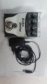 Pedal Landes Delay + Fonte - Guitarrra Violão Vocal Efeito