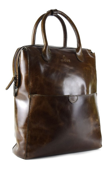 Backpack De Dama 100% Piel - Color Chocolate