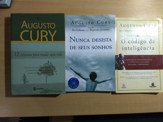 3 Livros De Augusto Cury