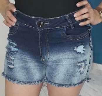 Shorts Jeans Feminino Plus Size 48 Ao 56 Cintura Alta Lycra
