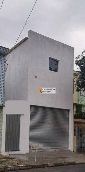 Salão Para Alugar, 45 M² Por R$ 2.100,00/mês - Vila Regente Feijó - São Paulo/sp - Sl0063