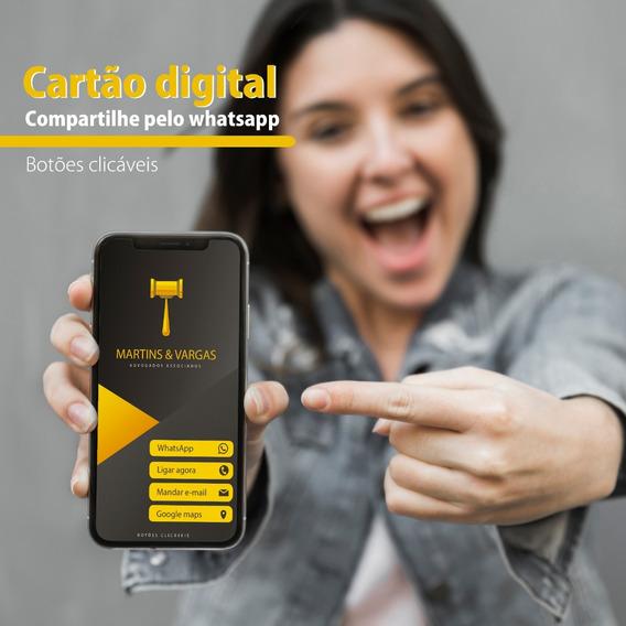 Cartão De Visita Digital Interativo+acompanhamento D Cliques