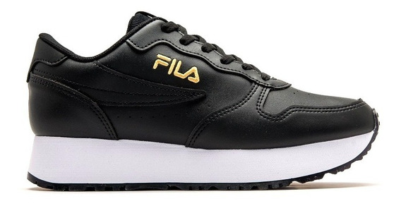 Zapatillas Fila Euro Jogger Wedge Sl Negras De Mujer