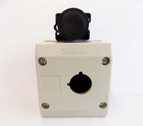 Botão Pulsador 22mm + Botoeira 1 Furo 22mm Metaltex