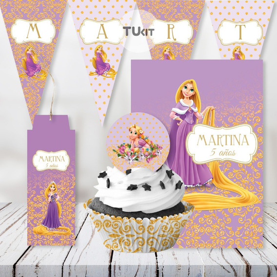 Kit Imprimible Rapunzel Princesas Edit Pdf Candy Bar Tukit
