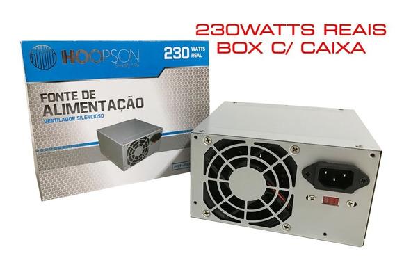 Caixa C/4 Fontes Atx Hoopson Fnt-230w-h 230w Real