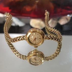 Rolex Ladies Raro Único No Brasil Todo Ouro 18kl Jóia Linda
