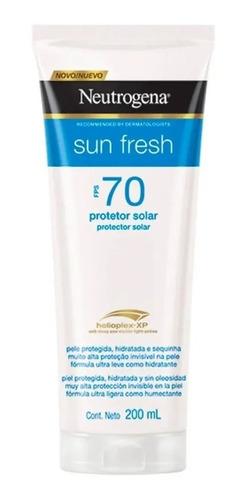 Protetor Solar Neutrogena Sun Fresh Fps70 200ml