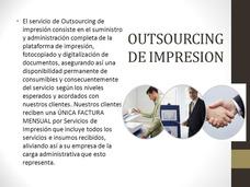 Outsourcing De Impresión ,alquiler Y Préstamo De Impresoras
