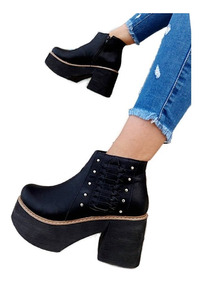 Botas Mujer Zapatos Plataforma Botinetas Altas Fiesta A.208