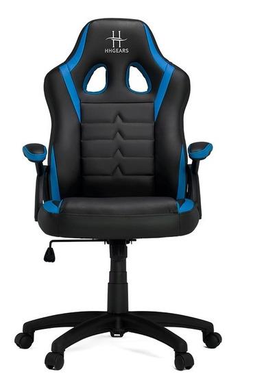 Silla Gamer Hhgears Sm 115 Negro Azul Sm115-bbl