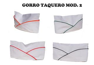 Paquete De 5 Gorros Taqueros Color Blanco Con Filos De Color