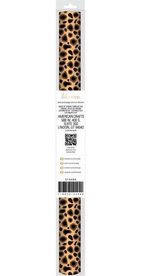 Laminas Para Transferir Foil Metalizado Leopard Print Minc
