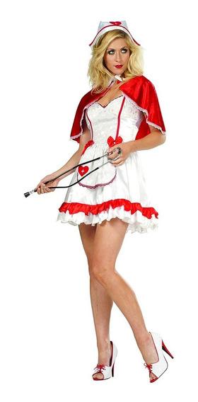 Chico Disfraz Enfermera Vestido Cofia Capa Halloween Sexy