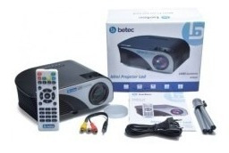 Projetor Betec 1.600 Lumens Full Hd Bt830
