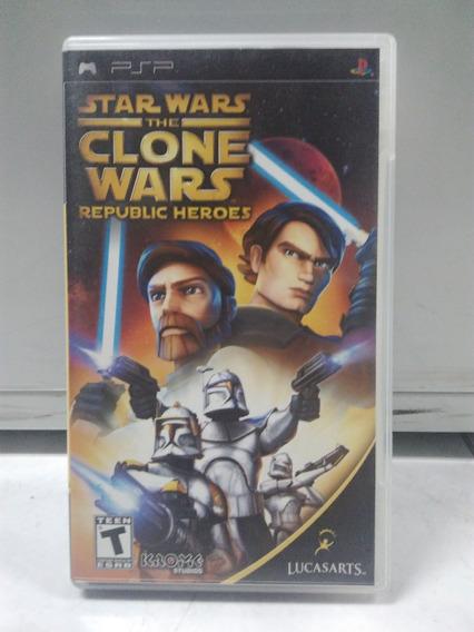 Star Wars: The Clone Wars - Psp - Com Caixa