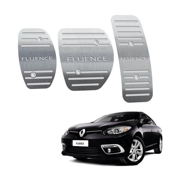 Pedaleira Manual Aço Inox Renault Fluence 2011 Até 2019