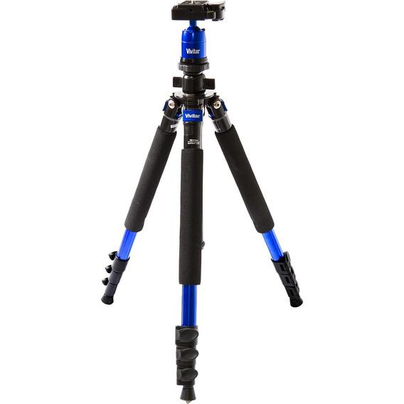 Tripé + Monopé Fotográfico 1,57m 5kg Magnésio Vivitar Azul