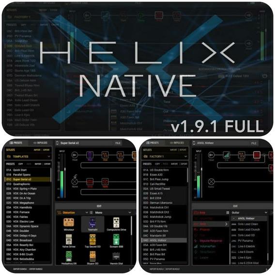 Line 6 Helix Native V1.9.1 Completo ( Vst, Vst3, Aax) Plugin