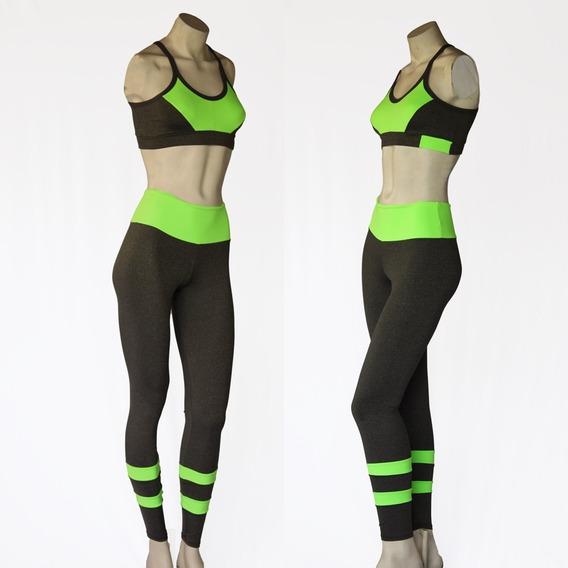 Conjunto Fitness Calça E Top Academia