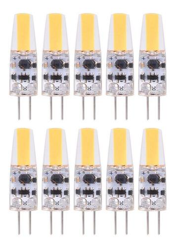 10pcs Ac/dc12-24v G4 Cob Led Lâmpadas Não Regulável Silic