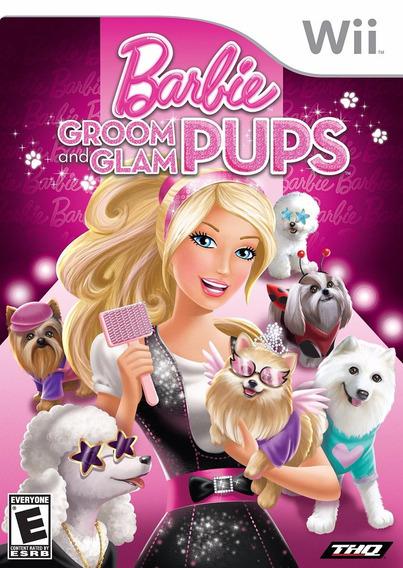 Nintendo Wii Barbie Groom And Glam Pups Lacrado Original