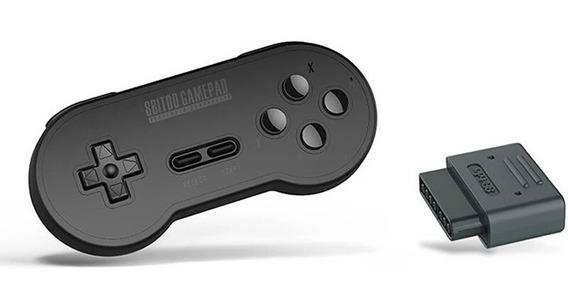 Controle 8bitdo Bluetooth Sn30 Retro Snes Black Edition