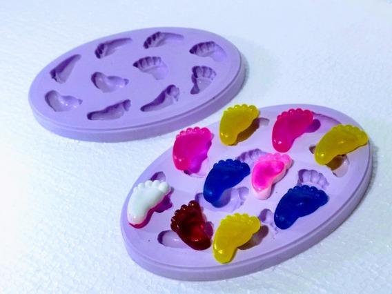 Forma B.silicone Mini Pezinhos Chá Bebê Lembrancinhas Outros