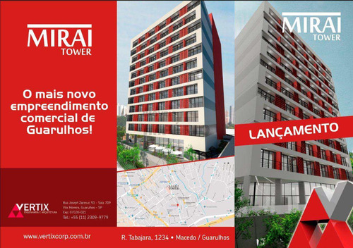 Sala Com 1 Dorm, Macedo, Guarulhos - R$ 189 Mil, Cod: 3332 - V3332