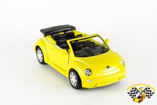 Miniatura New Beetle Conversível Amarelo Welly 1:34-1:39